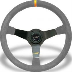Sportovní volant Luisi Mirage Corsa, 350mm, broušená kůže, 75mm odsazení
