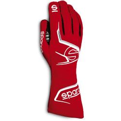 Rukavice Sparco Arrow s FIA homologací (vnější šití) červena