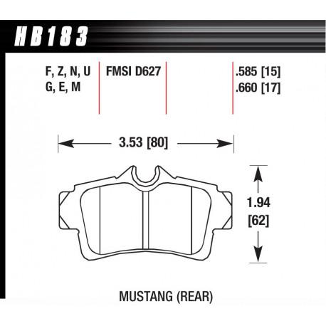 Brzdové desky HAWK performance Zadní brzdové destičky Hawk HB183F.660, Street performance, min-max 37 ° C-370 ° C   race-shop.cz