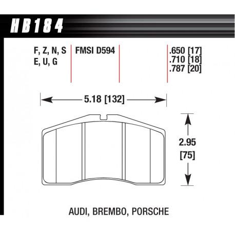 Brzdové desky HAWK performance Přední brzdové destičky Hawk HB184S.710, Street performance, min-max 65 ° C-370 ° | race-shop.cz