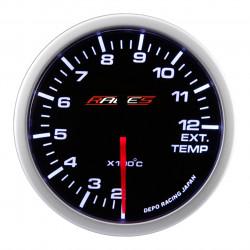 Budík RACES Clubman - teplota výfukových plynů