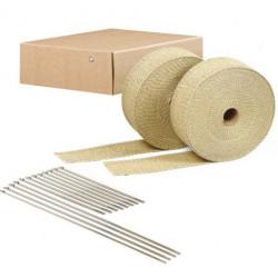 Termo izolační páska na svody a výfuk DEI 2szt. - 5 cm x 15 m Tan + stahovací pásky