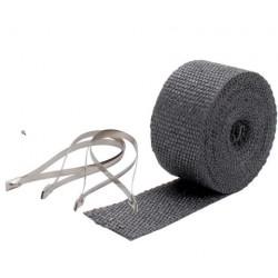 Termo izolační páska na svody a výfuk DEI - 5 cm x 7,5 m Black + stahovací pásky