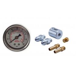 Adaptér races 8mm, AN6 s manometrem 0-8Bar