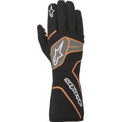 Rukavice Alpinestars Tech-1 Race V2 s FIA homologací - černo / oranžové