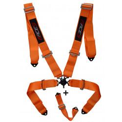 """5 bodové bezpečnostní pásy RACES 3 """"(76mm), oranžové"""