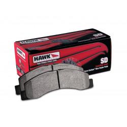 Přední brzdové destičky Hawk HB633P.790, Street performance, min-max 37 ° C-400 ° C