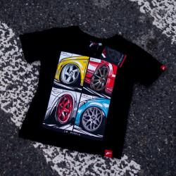 Tričko JAPAN RACING Mix detské, Černá barva