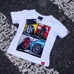 Tričko JAPAN RACING Mix detské, Bílá barva