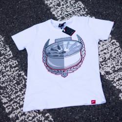 Tričko JAPAN RACING JR-11 mužské, Bílá barva