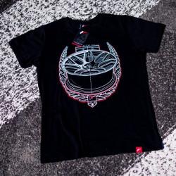 Tričko JAPAN RACING JR-18 mužské, Černá barva