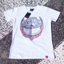 Tričko JAPAN RACING JR-18 mužské, Bílá barva