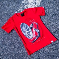 Tričko JAPAN RACING JR-11 ženské, Červená barva