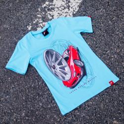 Tričko JAPAN RACING JR-11 ženské, Tyrkysová barva
