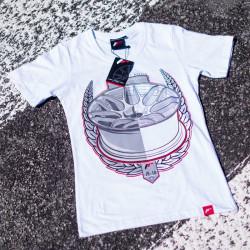 Tričko JAPAN RACING JR-18 ženské, Bílá barva