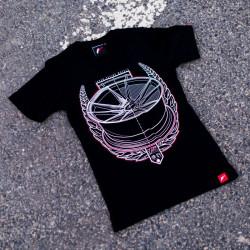 Tričko JAPAN RACING JR-21 ženské, Černá barva