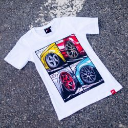 Tričko JAPAN RACING Mix ženské, Bílá barva