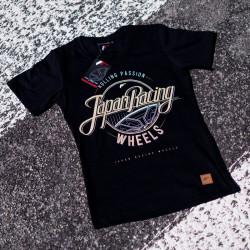 Tričko JAPAN RACING Rolling Passion ženské, Černá barva