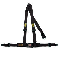 3 bodové bezpečnostní pásy OMP, černé