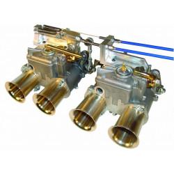 SYTEC kompletní sada na ovládání 2ks dvojitých karburátorů Weber