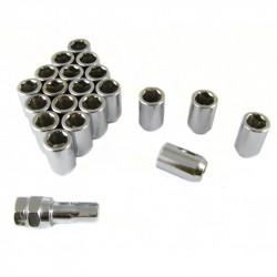 Sada 20ks ocelových matic na imbus + klíč M12x1,25