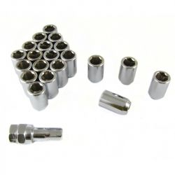 Sada 20ks ocelových matic na imbus + klíč M12x1,5