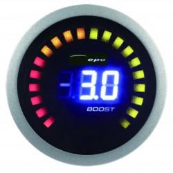 Digitální Budík DEPO racing 2v1 Teplota výfukových plynů + Tlak turba Digital combo série
